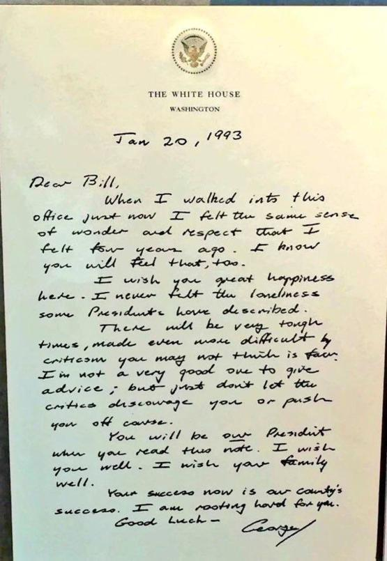 george-h-bush-letter-to-bill-clinton-on-in